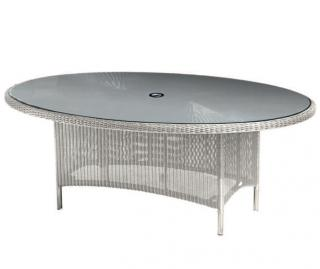 Westminster Valencia Oval Table 2m in Platinum