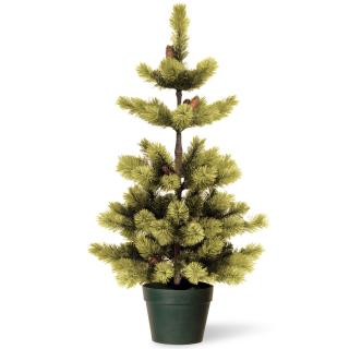 4ft Woodland Carolina Pine Potted Artificial Christmas Tree