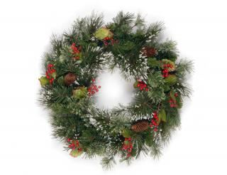 2ft Wintry Pine Artificial Christmas Wreath