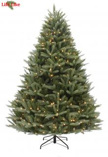 This 7ft Pre-lit spruce is a PE/PVC mix tree with 550 warm white LED lights. FREE Gift included when you buy online.