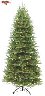 This 7.5ft Pre-lit slim spruce is a PE/PVC mix tree with a nice slim shape. FREE Gift included when you buy online.