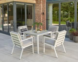 Norfolk Leisure Titchwell 4 Seat Dining Set in White
