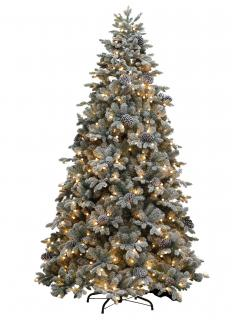 Our PE/PVC mix 6ft Yukon Snowy Pine would make a lovely snowy display with its flocked branches & cones. FREE Gift included when you buy online.