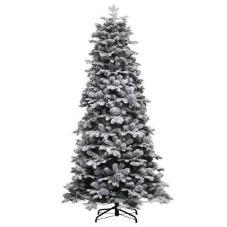 7ft Yukon Snowy Pine Life Like Artificial Christmas Tree