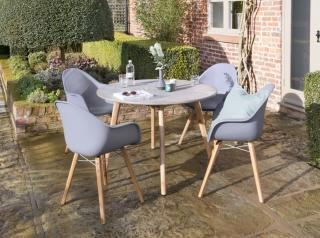 Norfolk Leisure Zari 4 Seat Round Set in Anthracite