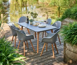 Norfolk Leisure Zari 6 Seat Rectangular Set