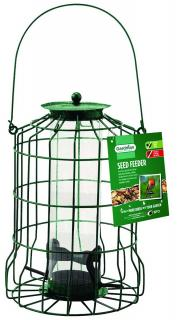 A stylish bird seed feeder that is squirrel resistant.