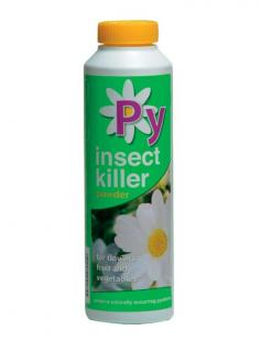 Vitax Py Powder. Based on Pyrethrum, nature's own insecticide.