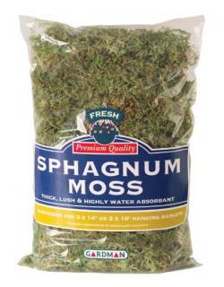 Moss Sphagnum is harvested from renewable resources and to be used in traditional green most baskets.