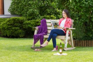 The sturdy Abbey Rocking Bench will provide support and comfort whilst relaxing in the garden.