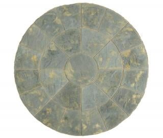 Abbey Paving Circle Antique 2.4m Patio Kit