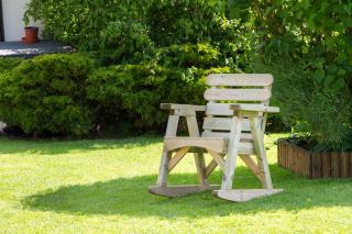 The sturdy Abbey Rocking Chair will provide support and comfort whilst relaxing in the garden.