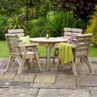 The generous sized seated Abbey Dining Set for four.