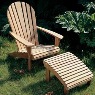 This comfortable Barlow Tyrie Adirondack Armchair and Footrest is the perfect set. Code 1ADA and 1ADFR.
