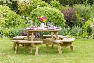 The versatile Alex Octagon Picnic Table and is perfect for recreational areas, bars and restaurant gardens.