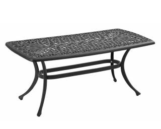 A cast aluminium coffee table finished in bronze.
