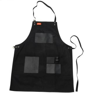 Traeger Apron - Black Canvas & Leather