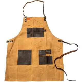 Traeger Apron - Brown Canvas & Leather