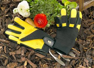 Gents 'Soft Touch' Gold Leaf Garden Gloves