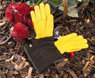 Ladies 'Tough Touch' Gold Leaf Garden Gloves
