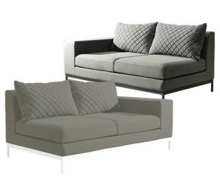 Westminster Code ARC101, ARC102. A modular garden sofa upholstered with Sunbrella fabric in a choice of colours.