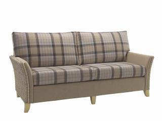 The contemporary Arlington Three Seater Sofa would sit elegantly in any conservatory or dining area.