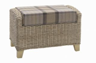 The contemporary Arlington Footstool would sit elegantly in any conservatory or dining area.