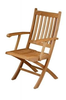 Barlow Tyrie Ascot Teak Folding Teak Carver Chair