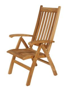 Barlow Tyrie Teak Ascot Highback Recliner Chair