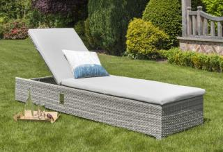 This LIFE Outdoor Living Aya lounger is a gas adjustable lounger which comes with an ALL WEATHER cushion.