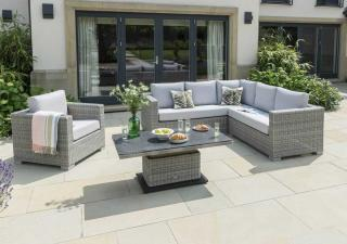 LIFE Outdoor Living Aya Square Corner Set in Yacht Grey & Mouse Grey