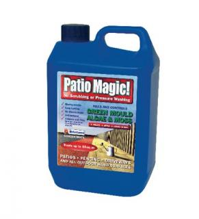 Scotts Patio Magic Cleaner 2.5Litre. For use on all outdoor hard surfaces. No scrubbing. Easy to use. Visible results in 2-4 days.
