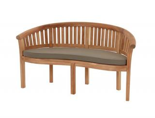 Why not relax in the sunshine with this curved Banana Bench. This is a pre-built ready assembled Bench and comes with a free cushion.