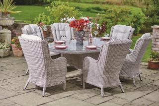 Supremo Basilio 6 Seat Oval Dining Set
