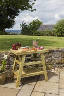 The useful BBQ Side Table will give generous space for plates and utensils whilst barbecuing. A must for all budding outdoor chefs.