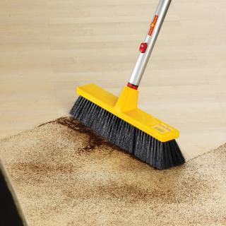 Wolf-Garten multi change range House Brush is ideal for sweeping large areas indoors or outdoor terraces.
