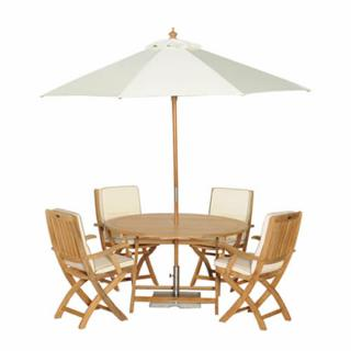This classic Teak Bisley Set for Four can be enjoyed for many years.
