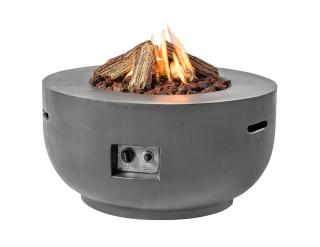 This eye-catching gas fire pit will make a warming focal point for your garden or patio.