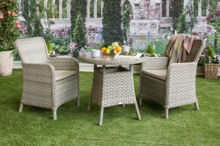 This stunning Geneva 80cm Bistro Set is ideal for a smaller garden or patio.