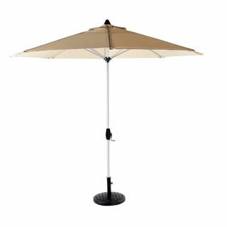The Bramblecrest  Aluminium 3m Crank Parasol is available in two colours. Bramblecrest Code PABGC2, PABNC2 and PABSC2.