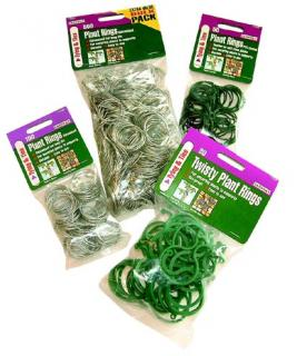 Twisty Plant Rings (Pack of 30) for connecting plant stems to supports.