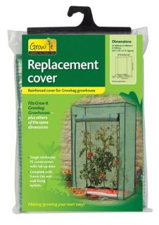 This clear cover will allow maximum light to reach your plants.  It's heavy duty and features a roll-up zipped front panel for easy access.