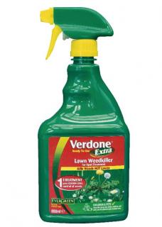 Scotts Verdone Extra Ready To Use Lawn Weeder 500ml. Ready To Use Spray to control broad-leaf weeds in lawns without harming the grass.