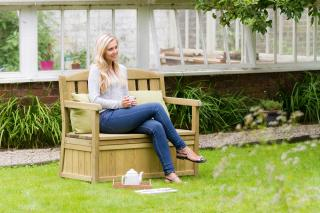 Why not sit comfortably and enjoy summer with the practical Caroline 1.2m Bench with storage box.