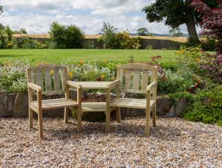 The Caroline Companion Seat is ideal for the smaller garden.