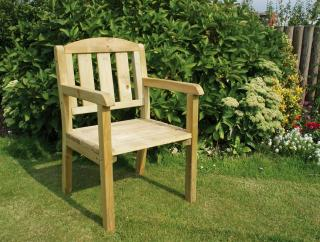 The Caroline Chair would make a great addition to the  Seat is ideal for the smaller garden.