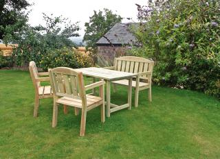 This realistically priced Caroline four piece set would make a great addition to your garden.
