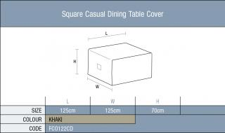 The Bramblecrest Square Casual Dining Table garden furniture cover will give full winter protection to your furniture. Bramblecrest Code FC0122CD