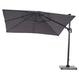Bramblecrest Chichester 3m Square Side Post Parasol in Grey
