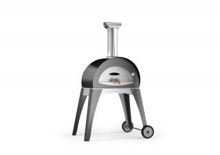 The small Forno Ciao Pizza Oven is perfect for compact outdoor spaces. Available in two colours.